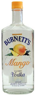 Burnett's Vodka Mango 750ml - Case of 12